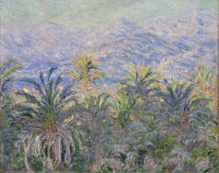 Claude Monet - Palm Trees at Bordighera at the MET in New York